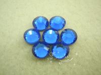 Free shipping 1440 pcs  DMC 4 mm color hot fix rhinestone transfer designs applique for dresses(deep blue)