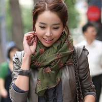 Autumn and winter scarf women's fluid small zebra cape balis lengthen plus size muffler scarf
