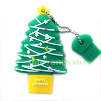 Fashion Christmas tree model USB 2.0 Full Memory Stick Flash pen Drive 2GB 4GB 8GB 16GB 32GB