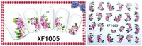 Finger applique nail art watermark stickers Beauty water transfer print applique decal series XF1005 Factory wholesale