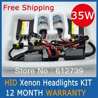 HID Xenon Headlights Conversion KIT H1 H3 H7 H9 H11 9005 HB3 9006 HB4  4300K 6000K 8000K SLIM BALLAST Free Shipping