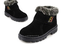 2013 winter Children's snow boots,Boys &Girls baby boy cotton-padded shoes,Full leather production,size23-36