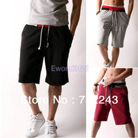 Spring Summer 2014 New Mens Loose Casual Sports Leisure Gym Sweat Pant Joggers Tracksuit Shorts Trousers 3 Colors M - XXXL