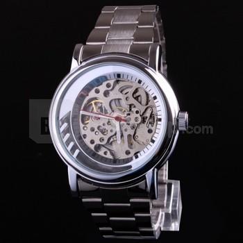 Free HK Post+Box Luxury Male Hours Montre Men Full Steel Skeleton Automatic Watch SHENHUA Classic Transparent Mechanical Clock