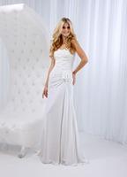 A-Line Sweetheart Floor-Length Chiffon Wedding Dress With Ruching HWGJWD132