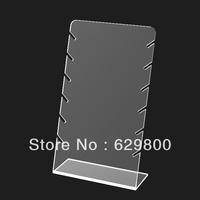 clear acrylic jewelry display stand,fashion acrylic jewelry dispaly rack with sawtooth shape