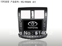 Car DVD GPS for Toyota Crown new 2013 support USB phone book steering wheel control