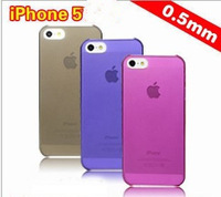 Free Shipping 10pcs/lot 9 Colors Ultrathin Transparent Phone Cover Case for iPhone 5
