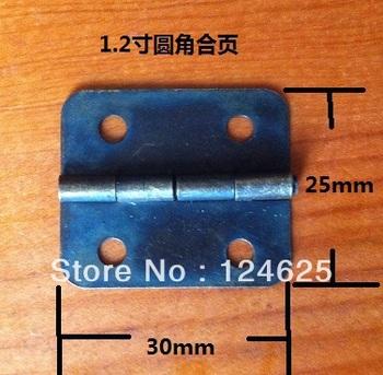 Free Shipping 50Pcs Mini Wooden wine box Drawer Butt Hinge 30*25mm Antique Bronze Retro Fillet small Flat hinge