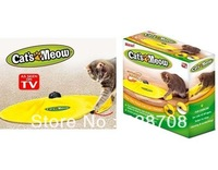 Free Shipping+As Seen on TV have retail box undercover mouse,Cat`s Meow electronic cat toy cat training tool,30pcs/lot