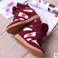 Ash isabel marant 2013 spring and summer elevator women's sports casual shoes pentastar color block decoration