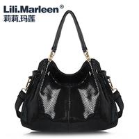 Lily women's lather-bag big bags 2013 women's female handbag one shoulder cross-body leather bag