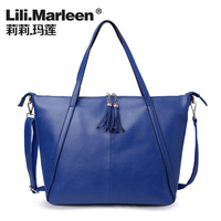 Lily bags 2013 women's handbag one shoulder casual cowhide cross-body handbag tassel bag