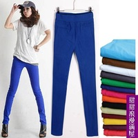 Free Sipping Spring Summer Ultra Elastic Multicolour Tight-fitting Skinny Pants Pencil Pants Trousers