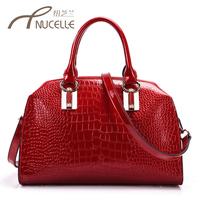 Women's handbag 2015 crocodile pattern bag cowhide handbag messenger bag one shoulder cross-body women's handbag