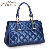 Women's handbag 2013 fashion patent leather bags plaid bag handbag