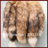 "12''-15"" Long Real Genuine Red Fox Tail Fur Tassel Bag Tag Accessory Charm, keyring"