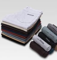 2015  new casual handsome cotton causal pants man Korean Straight 100% slim Trousers 6 colors