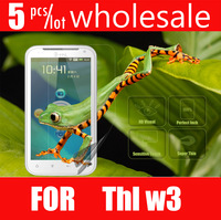 5pcs/lot 2013 free shipping thl w3 original Screen Protector film for Moblie Phone THL W3 phone
