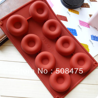 8pcs Donut Chocolate Mould Case  For Cake Candy Jelly Ice cake Silicone Mould Mold Baking Pan Tray