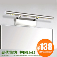 Modern brief exquisite 5w high power stainless steel led mirror light modern bathroom lighting lamp