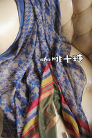 sale Scarf square female geometry multicolour stripe beach cape scarf dual  free shipping fashion women