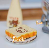 iland  1/12 Dollhouse Miniature Food Breakfast Snack Lovely Bear Slice Bread