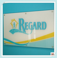 2013 new style crystal acrylic sign board design