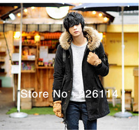 New arrival men's fashion casual warm  leopard cotton coat thicken jacket winter autumn for man free shipping  258