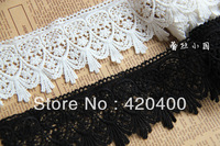 Free Shipping Handmade DIT Embroidery Water Soluble Cotton Flower Lace Trim