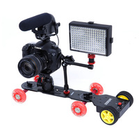 SEVENOAK dslr camera dolly Tractor Motorized Push Cart Trolley Camera Skate Track
