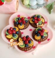 iland 1/6 Scale Food Dessert Fruit Tart Strawberry Grape Lemon Kiwi Fruit