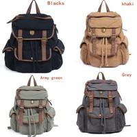Vintage Womens Mens Casual Canvas Backpack  bookbag Rucksack Hiking Bag Satchel