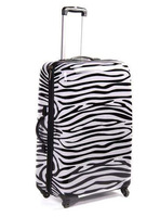 2013 travel the trend of fashion zebra print trolley luggage travel bag luggage