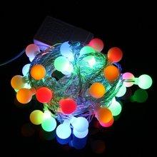 220V RGB LED String 50 LED 5M Colorful Christmas Light  Xmas String Lights Free Shipping(China (Mainland))
