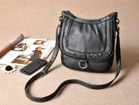 Cattle 49 multi-pocket women's handbag messenger bag 450g Free Shipping