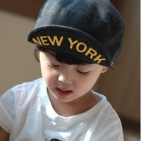 Free shipping.(5pcs/lot)9 colors Children's cap.Letter printing sun hat for children.Fashion causal baseball hats for children.
