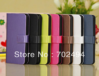 New arrival,100pcs/lot Colorful PU leather case for apple iphone5c,for iphone5c leather case free shipping