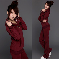Korea Casul Fashion Women 's Tracksuits Sportswear Slim Set with a hood casual sweatshirt set Hoodies Clothing For  Women