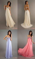 2013 Sexy Sweetheart Beaded Chiffon Straight Custom Made Long Formal Prom Dresses