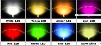 1000 pcs 5mm 2pin Flat top white,warm white,blue,yellow,green,red,Orange,pink,UV  LED Wide Angle Light lamp