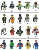 3D DIY Construction Bricks Action figure Star Wars Avengers 20pcs Building Blocks Sets Minifigure Educational Toys For Children