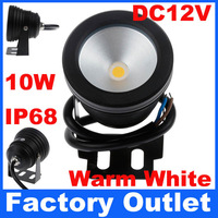 5pcs 10W IP68 Waterproof AC/DC 12V Warm White LED Underwater Light Lamp For Christmas Fountain Swimming Pool Party Home