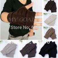 Hand Arm Winter Warm Warmer Fingerless Gloves Knit Crochet Mitten Knitted Wrist[ 240612]