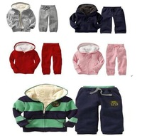 Baby winter Clothing for boy thick with hat + Fur Hoodies+pants Children Sports Suits warm kid sets  Hot Sales