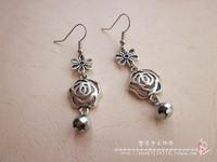 Flowers handmade silver flower earrings vintage basic 29