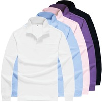 2014 new blank polo men turn-down collar long sleeve POLO shirt desigual men polo M-3XL JZH008