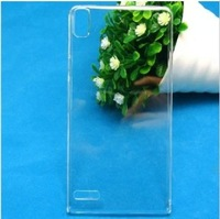 2pcs/lot Free Shipping Clear Crystal Hard Plastic Back Case Cover Skin for huawei Ascend P6 Free Shipping (HW142)