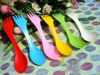 6packs/6x6PCS/36Pcs Spoon Fork Knife Camping Hiking Utensils Spork Combo Travel Gadget Cutlery