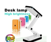 Upgrade,Foldable Folding Touch Controlled Table Night Reading Light 24 LED Desk Lamp Free Shipping,Five kinds of color choice